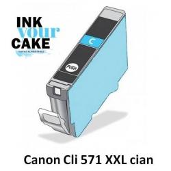 Tinteiro Alimentar Canon CLI-571C XXL Cian