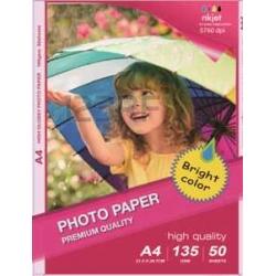 Papel Photo High Glossy Inkjet (cast coated)130g A4 50Folhas