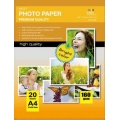 Papel Photo High Glossy Inkjet (cast coated)160g A4 20Folhas