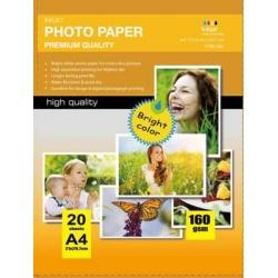Papel Photo High Glossy Inkjet (cast coated)160g A4 20Folhas