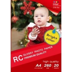 Papel 13x18CM B6 Premium Satin Inkjet Photo 260g-50 Folhas