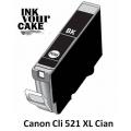 Tinteiro Alimentar Canon CLI-521BK XL Preto