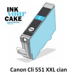 Tinteiro Alimentar Canon CLI-551C XXL Cian