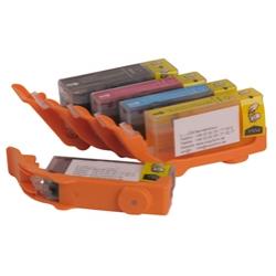 Pack 5 Tinteiros Alimentares Canon PGI570BK + CLI571BK/C/M/Y